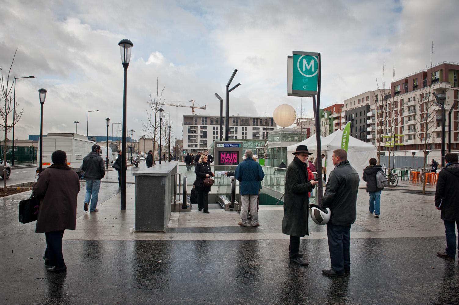 Inauguration de la station Front Populaire.